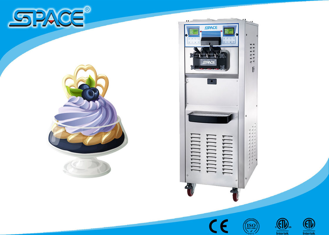 50 L/H Commercial Ice Cream Making Machine High Output CE ETL Certificate