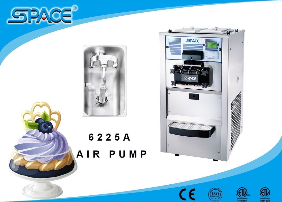 Air Pump Feeding Commercial Soft Serve Ice Cream Maker Table Top Model