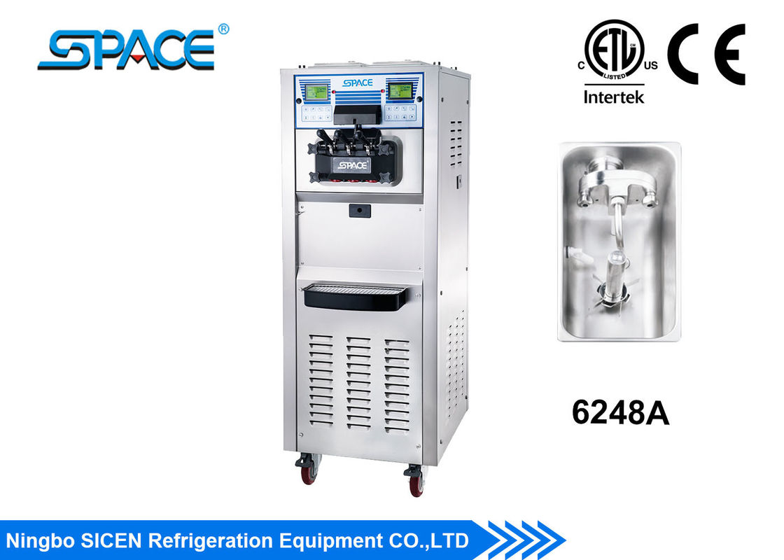 Professional Ice Cream Maker Machine Double Control Systems ETL Approved
