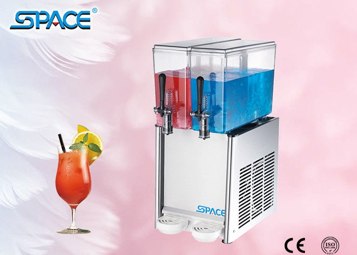 Rotating Type Hot And Cold Juice Drink Dispenser Double Bowl Automatic Control