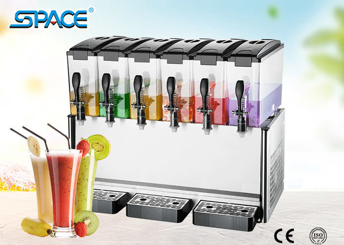 Countertop Electric Fruit Juice Cooling Machine Six Tanks For Party / Cafeterias