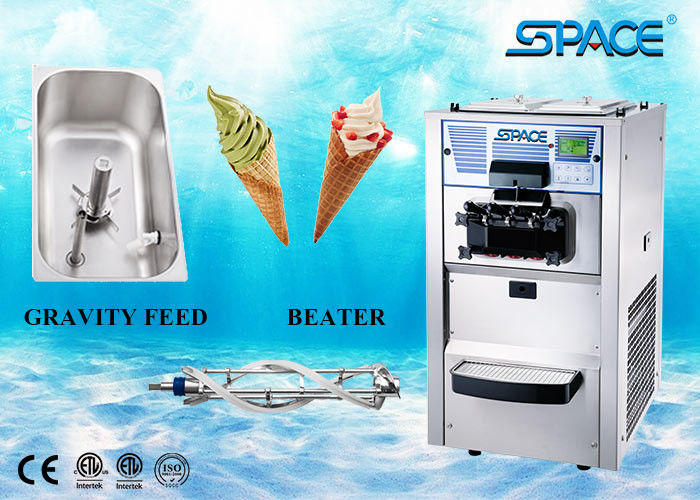 Full Stainless Steel Commercial Ice Cream Making Machine 2+1 Mixed Flavors